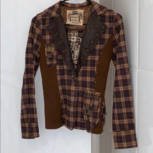 Flannel blazer
